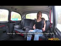Hot sex in Czech taxi (blowjob sperm and female orgasm)