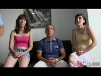 Spanish group real incest porn casting (father mother daughter)