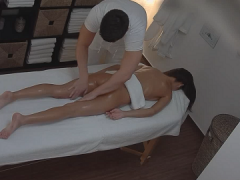 Intimate massage for girl on hidden camera in massage parlor